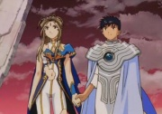 Belldandy and Keiichi at the Gate of Judgement
